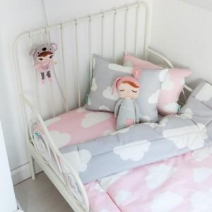 Souprava polštář a přikrývka 140x200 - Cloud Pink / Grey
