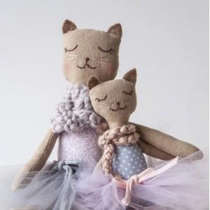 Kočička máma + koťátko