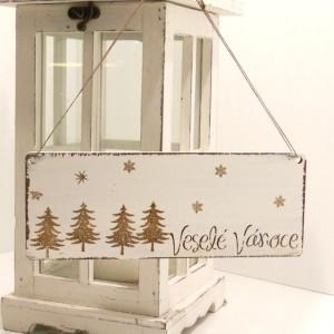 Vánoční tabulka Veselé Vánoce