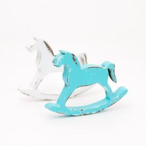 Houpací koník 12 cm - Tyrkysový