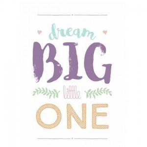 Dětský plakát / obrázek 30x40 - Dream Big