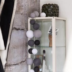 Světelné koule Premium Greys - 20 LED