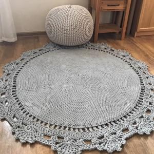 Pletený koberec kulatý - VZOR A / pr.80-140cm