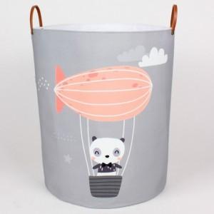 Koš na hračky MAXI - Panda / vzducholoď