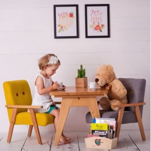 SET 2KS Dětská křesílka velur - různé barvy