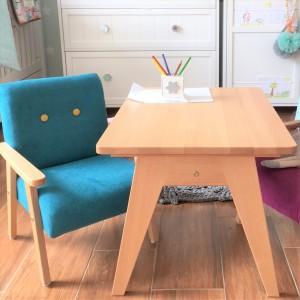 SET Dětské křesílko velur + stoleček TAP