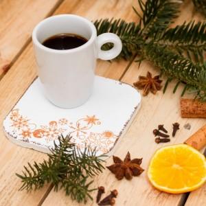 Dřevěné podložky 6 ks - vánoční dekor