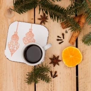 Dřevěné podložky 6 ks - vánoční ozdoby