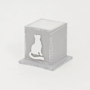 Hrnek na tužky šedý - Kocour