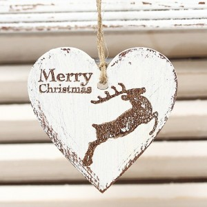 Závěsné srdce Merry Christmas - 7 cm