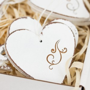 Srdce ryté ornament - 7 cm