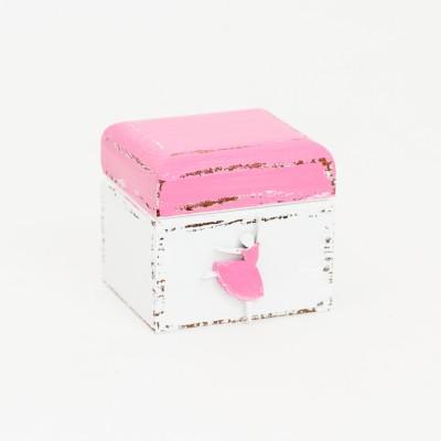 Šperkovnice - baletka tmavě růžová