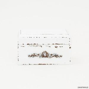 Šperkovnice velká - bílá s ornamentem