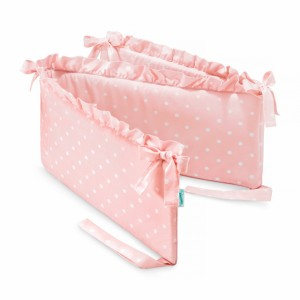 Mantinel do postýlky - s volánky / Lovely Dots Pink