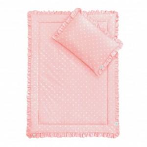Ložní Souprava 100x135 - s volánky / Lovely Dots Pink