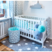 Hnízdečko pro miminko - Mint Grey Stars