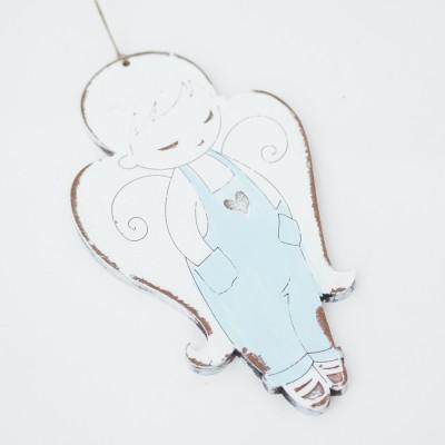 Závěska 10 cm - Anděl modrý