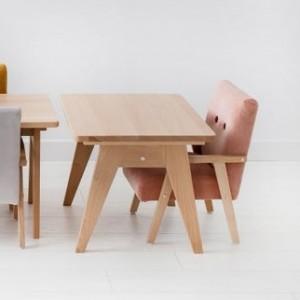 SET Dětské křesílko velvet + stoleček TAP