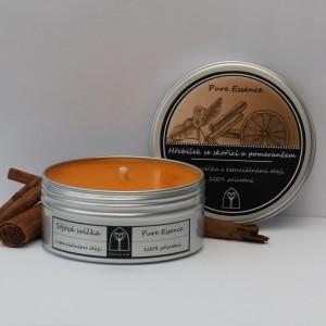 Sójová svíčka Hřebíček se skořicí a pomerančem 150 ml
