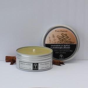 Sójová svíčka Levandule se skořicí a santalovým dřevem 150 ml