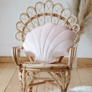 Polštář - mušle velvet (aksamit) růžová perlová
