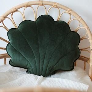 Polštář velký - mušle velur smaragd