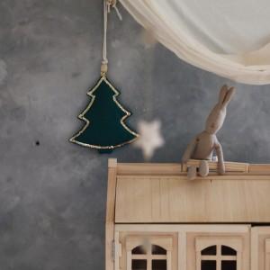 Závěsný sváteční stromeček - smaragd