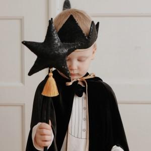 Magický set korunka a kouzelná hůlka - Černokněžník