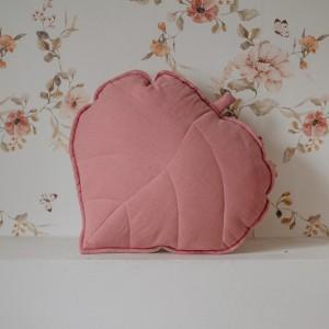 Polštář - list lněný Růžový