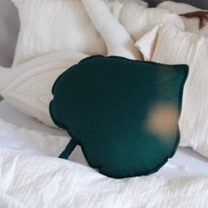 Polštář - list lněný Tmavě zelený