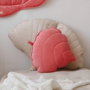 Polštář - list velur Candy Pink