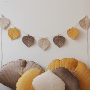 Girlanda listy velur - podzim