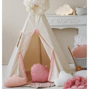 Dětské Týpí / Teepee - Růžové bambulky velké