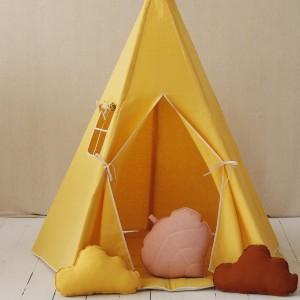 Dětské Týpí / Teepee - Len žluté