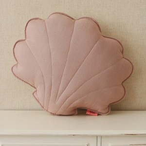 Polštář - mušle len pudrová růžová