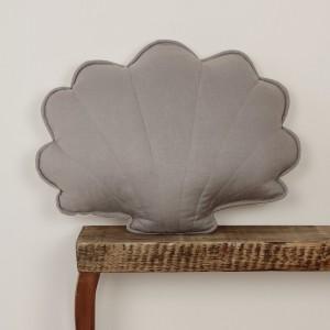 Polštář - mušle len šedá