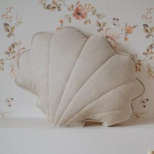 Polštář - mušle len písková