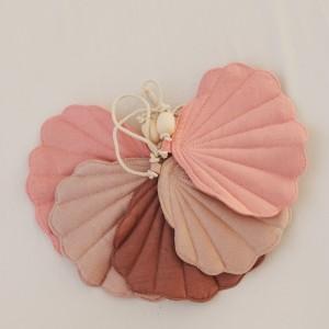 Girlanda mušličky - Růžové potěšení