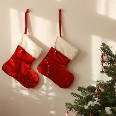Vánoční ponožka sv. Mikuláše - červená 40 cm