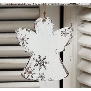 Závěsný anděl Sněhové vločky - 11 cm