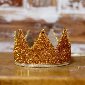 Královská koruna - zlatá / zlatý lem