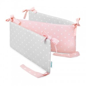 Mantinel do postýlky - Lovely Dots Pink / Grey
