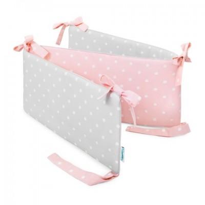 Mantinel do postýlky - Lovely Dots Pink / Grey