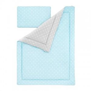 Souprava polštář a přikrývka - Lovely Dots Mint / Grey