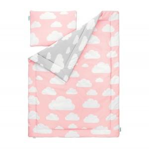 Souprava polštář a přikrývka 100x135 - Cloud Pink / Grey