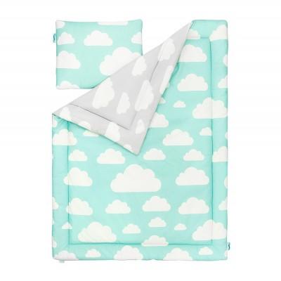 Souprava polštář a přikrývka - Cloud Mint / Grey