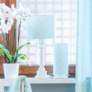 Stolní lampa - Lovely Dots Mint