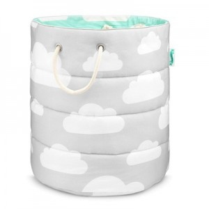Koš na hračky Cloud Mint / Grey