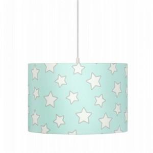 Dětský lustr - Mint Stars