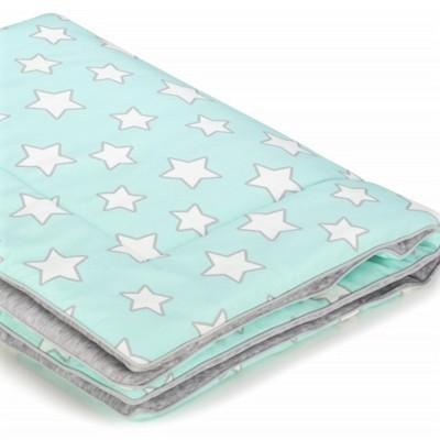 Dětská teplá deka - Mint Stars